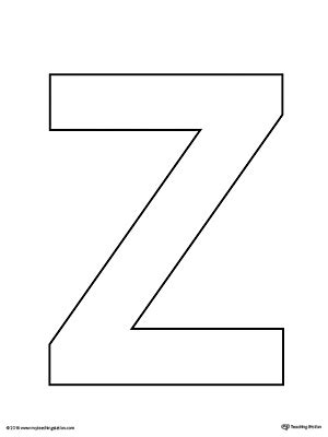 letter z tracing printable worksheet myteachingstation com