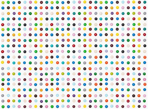Pattern Illusion World My Own World 4 Series Khalezza Tria N damien hirst s spot paintings recreated with m ms