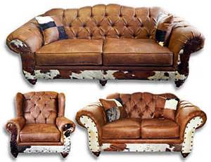 cowhide living room furniture chestnut cowhide sofa great western furniture company