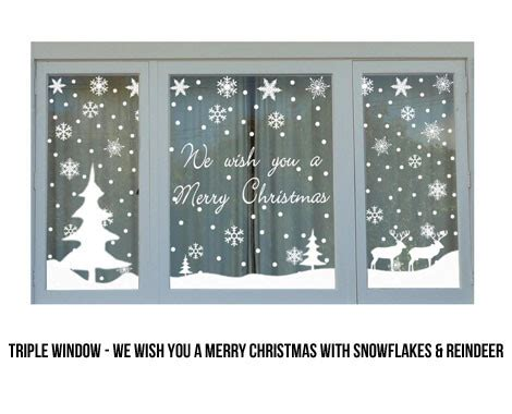 window painting signs christmas holiday seasonal artist christmas window stickers grabone store