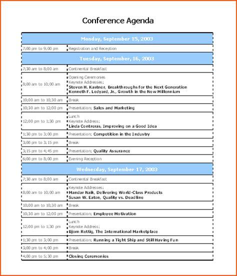 6 microsoft agenda template bookletemplate org