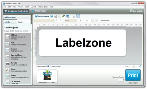 Dymo Labelwriter Software Review Labelzone Blog Dymo Label Templates