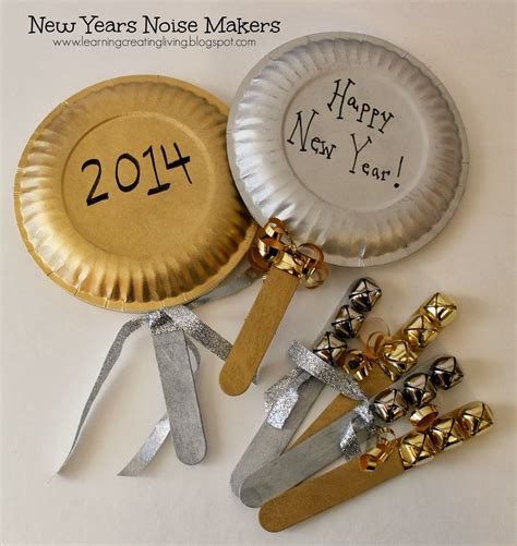 new year activity theme craft learning creating living new years noise makers
