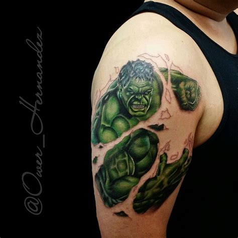 hulk tattoo inked avengers on instagram