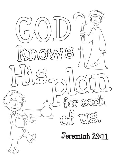 Coloring Page Jeremiah 29 11 by Free Coloring Pages Of Jeremiah 29