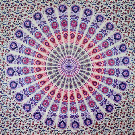 Floor And Decor Coupon blend of purple amp white peafowl psychedelic mandala