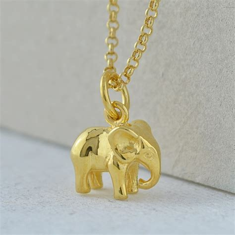 gold elephant necklace by charmed