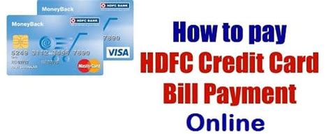 how to make payment of hdfc credit card how to pay hdfc bank credit card bill payment