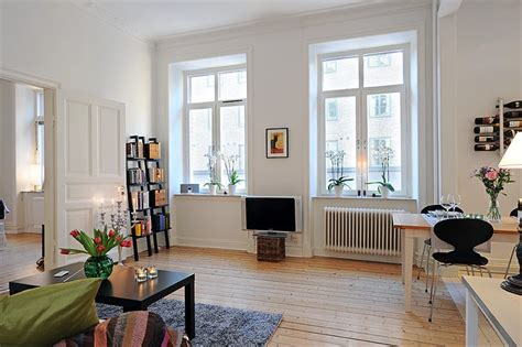 open floor plan interior design swedish 58 square meter apartment interior design with