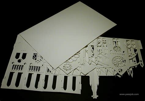 Free Garage Plans And Designs notre dame cathedral 180 degrees open pop up diy kirigami