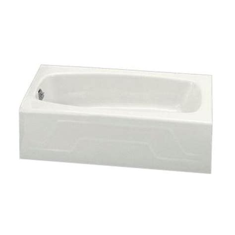 kohler dynametric bathtub kohler dynametric 5 ft left hand drain cast iron integral