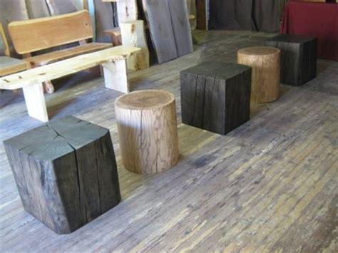 solid wood cube cylinder accent tables  texpenn