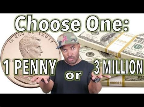 3 million dollar choose one 1 or 3 million dollars