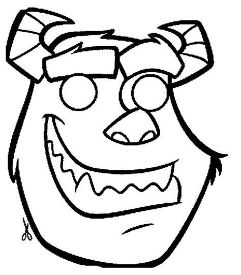 Masque Monstre Et Cie D 233 Coupage A Imprimer Bal Masque