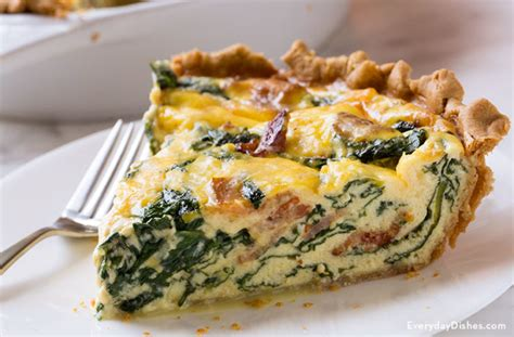 Home Made Halloween Decor Bacon Spinach Quiche Recipe For Breakfast Or Brunch
