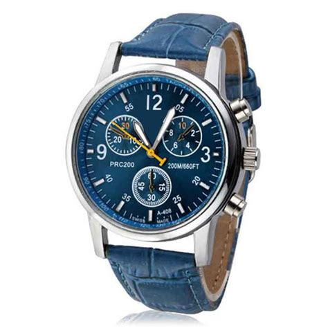 new mens watches top brand luxury fashion faux leather