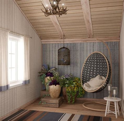 Lining Boards Ceiling by Country Home Interior In Scandinavian