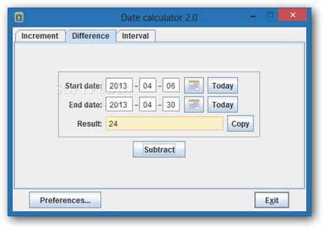 Calendar Calculator Working Days Date Calculator