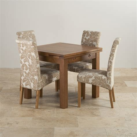 Extending Dining Table Sets Rustic Dining Set In Oak Extending Dining Table 4 Chairs