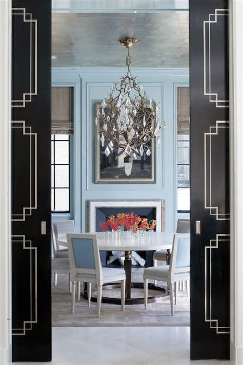 dining room doors black pocket doors french dining room peter pennoyer