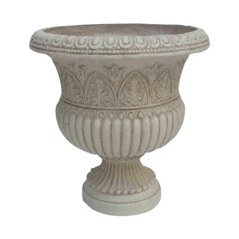 Planters Urns by White Urns Pots Planters Garden Center Outdoors The Home Depot