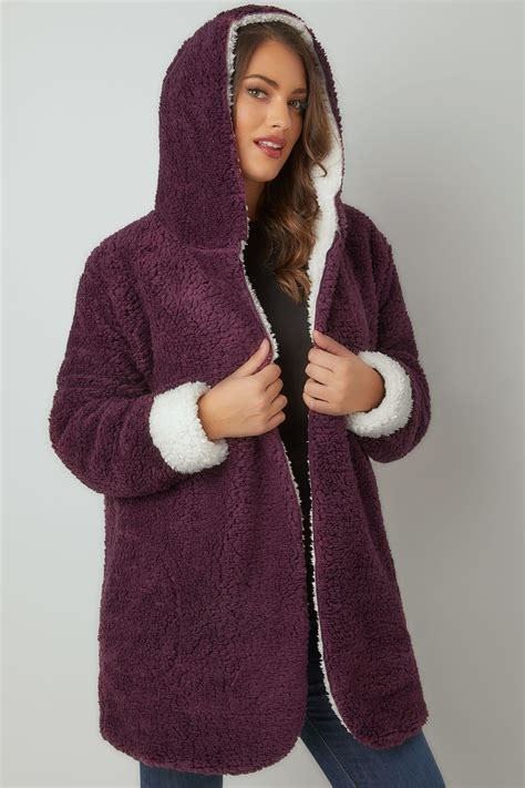 Can You Return Items Bought With A Gift Card - burgundy reversible fleece coat with hood plus size 16 to 36