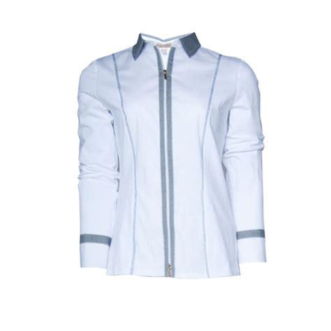 Tinta Garment tinta style white zip up blouse shirt