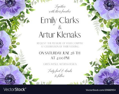 Wedding Card Designs Vector Free by Wedding Floral Invitation Card Design Royalty Free Vector