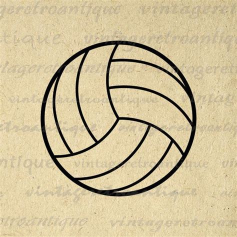 printable volleyball paper volleyball graphic image printable download sports digital