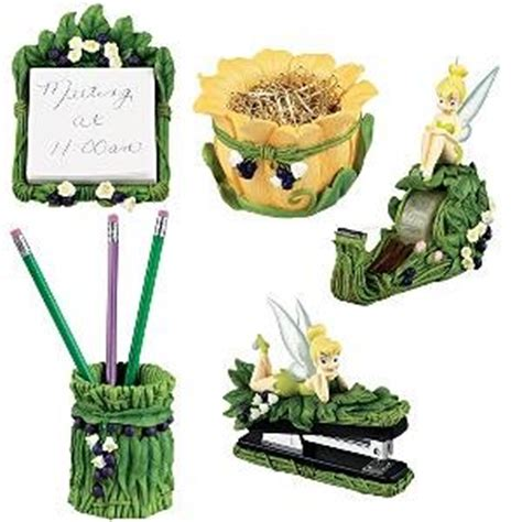 Disney Desk Accessories Disney 5 Pc Tink Fairies Desk Set Tinker Bell Tinkerbell Office Set Office Desk