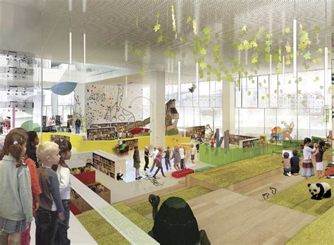 kid spaces design aarhus library mediaspace e architect