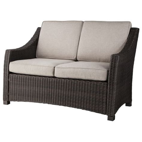 target loveseat belvedere wicker patio loveseat threshold target