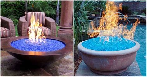 Fire Glass Fire Pit Ideas How To Instructions How To Make A Glass Pit
