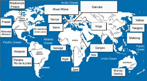 world map showing rivers and lakes 2 maps map features geography