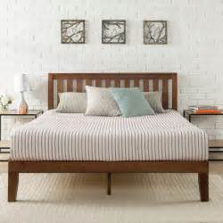 Platform Bed Labor Day Sale Antique Espresso Solid Wooden Platform Bed With Headboard