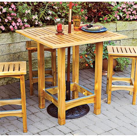 Bistro Patio Table And Stools Woodworking Plan From Wood Best Wood For Outdoor Table