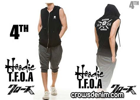 Jaket Crows Denim crows denim crows zero hooded sweater tfoa 4th