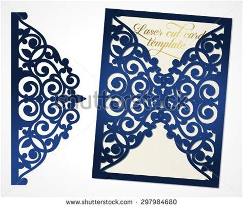 gatefold wedding invitations template abstract wedding cutout invitation template suitable for