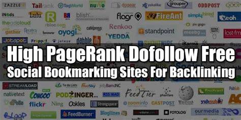 social bookmarking sites list 2014 high pagerank dofollow free social bookmarking sites for
