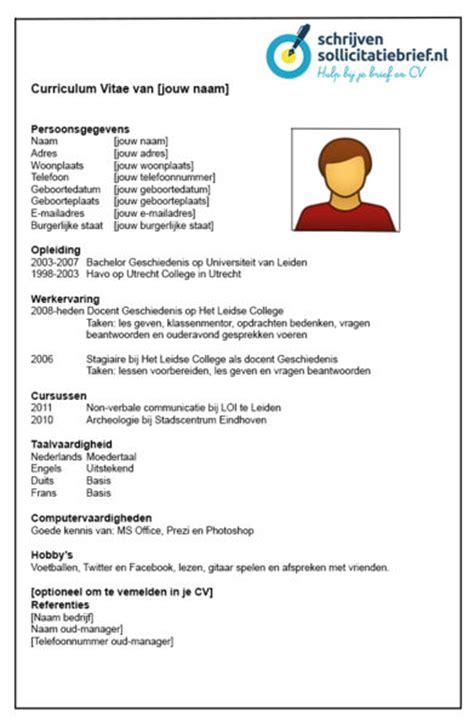 Sjabloon Cv Jobstudent Schrijven Sollicitatiebrief Voorbeeld Cv Voor Hogere Effectiviteit