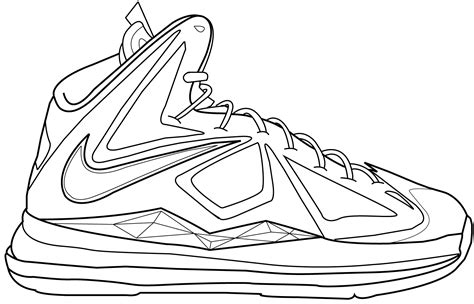 lebron james 11 shoes coloring pages www imgkid com