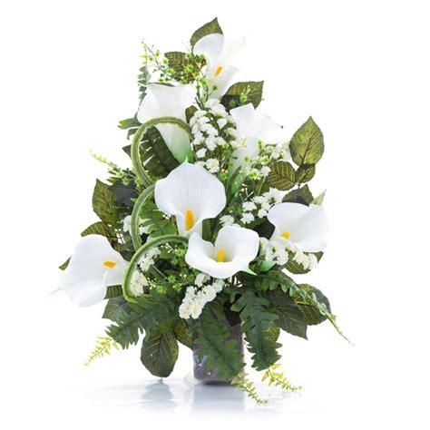 fiori calle bianche mazzo di calle bianche e statice in plastica con verde