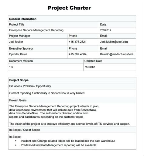 Project Charter Template Pmi by Pmbok Project Charter Template Project Charter Template