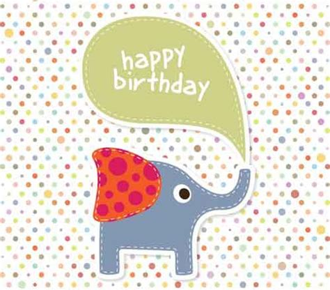 Elephant Birthday Card Template by Birthday Card Template 15 Free Editable Files To