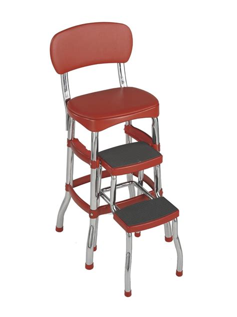 Chair Step Stool Folding by Cosco Retro Chrome Folding Step Stool Ladder Chair Bar