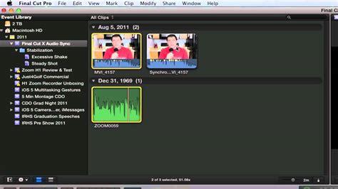 final cut pro audio sync final cut pro x tutorial audio sync from an external
