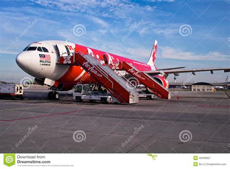 airasia kuala lumpur airasia plane editorial photography image 40406927
