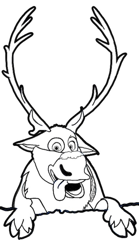 Sven Outline by How To Draw Sven The Reindeer From Frozen Step By Step Tutorial How To Draw Step By Step
