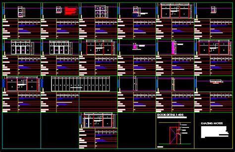 window templates for autocad cad drawing window schedule template 3