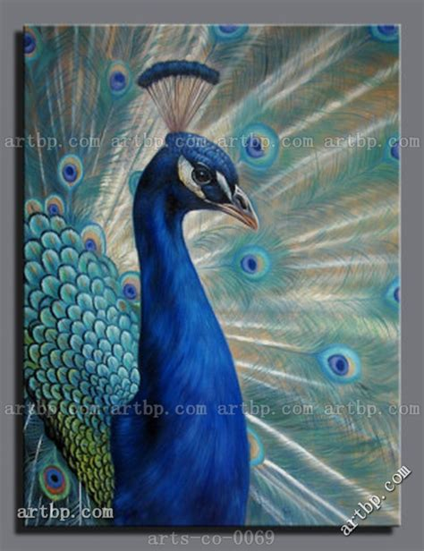 Mayfair Home Decor hand painted art oil painting canvas peacock canvas trees